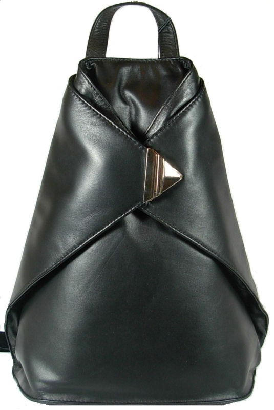 Visconti Triangular Leather Backpack Women
