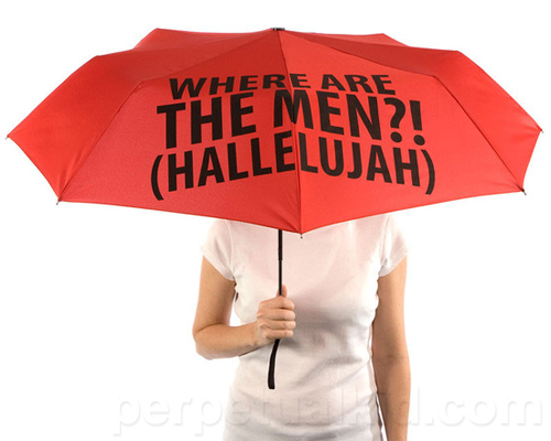 WHERE ARE THE MEN UMBRELLA