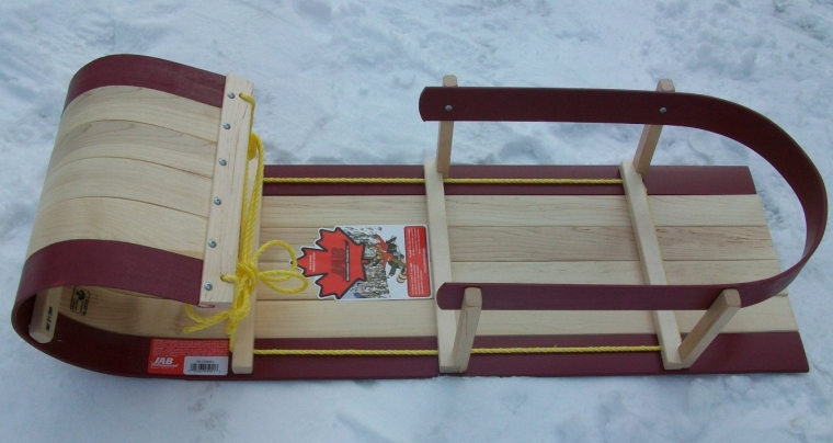 Wood Baby Sled Toboggan