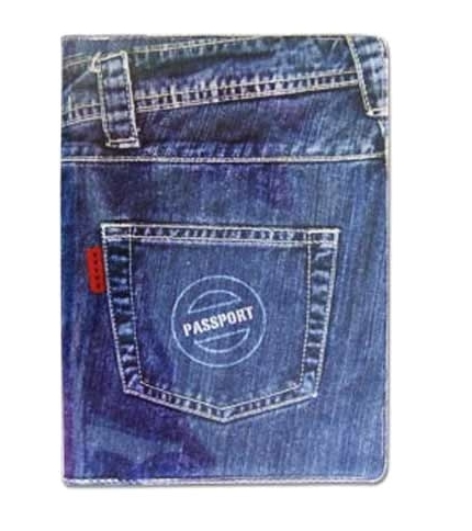 Jeans Passport Cover