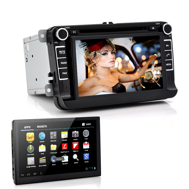 7 Inch Car DVD Player With Detachable Android Tablet Panel Das Playa