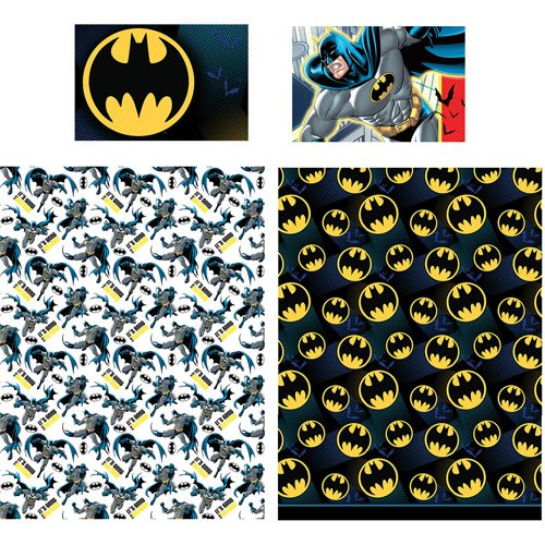 Batman 4pc Twin Comforter and Sheet Set Bedding Collection