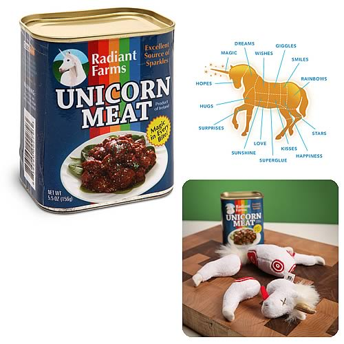 Canned Meat Unicorn Plush