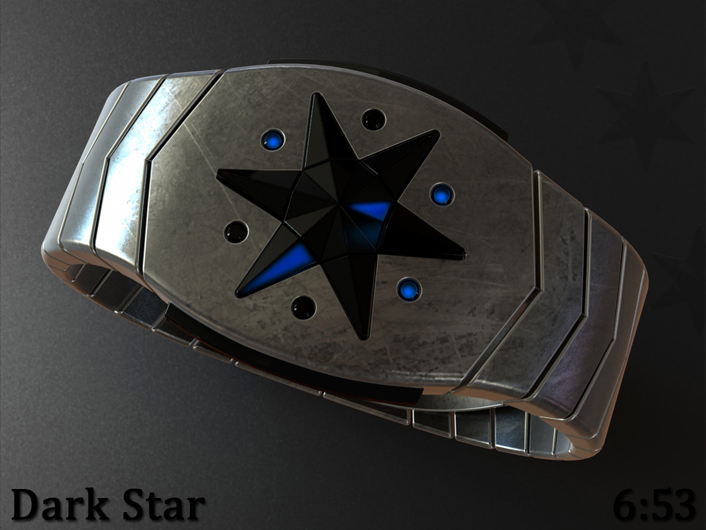 Dark Star LED watch