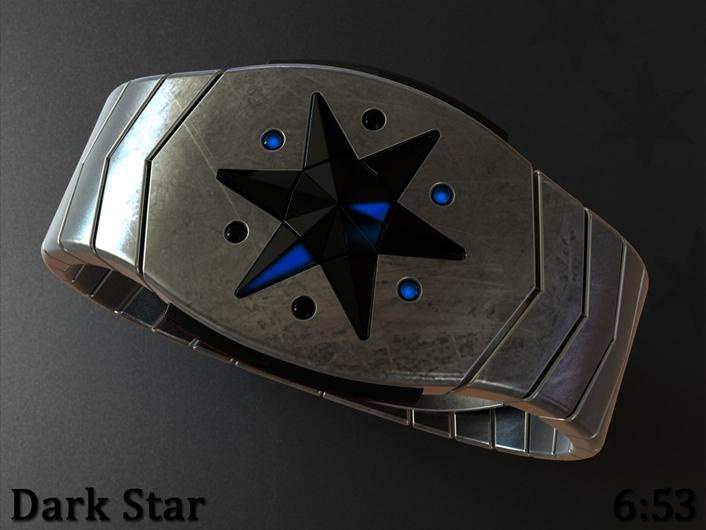 Dark Star LED watch