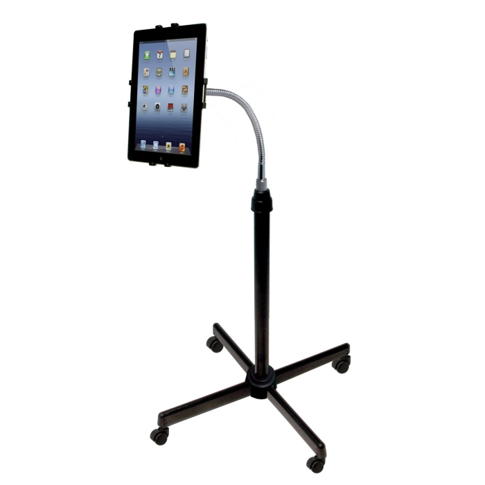 Digital Universal Height-Adjustable Gooseneck Floor Stand for Tablets