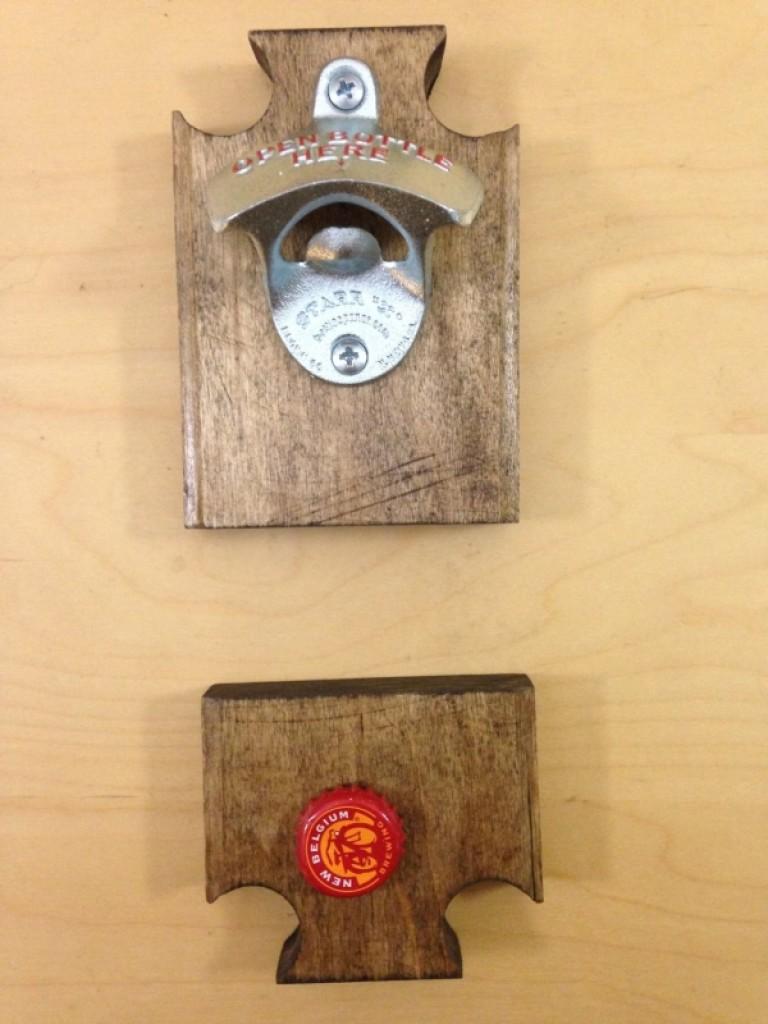 Fridge Mounted Bottle Opener With Magnet Catcher Gadgets