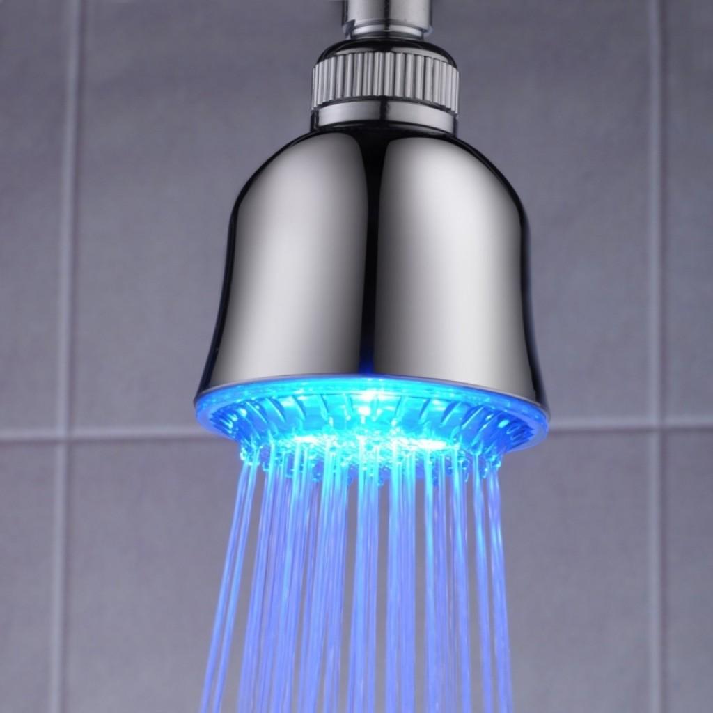 Led Temperature Sensitive Color Change Bathroom Shower