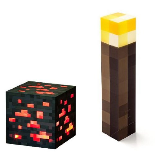 Minecraft Light Up Torch and Redstone Ore