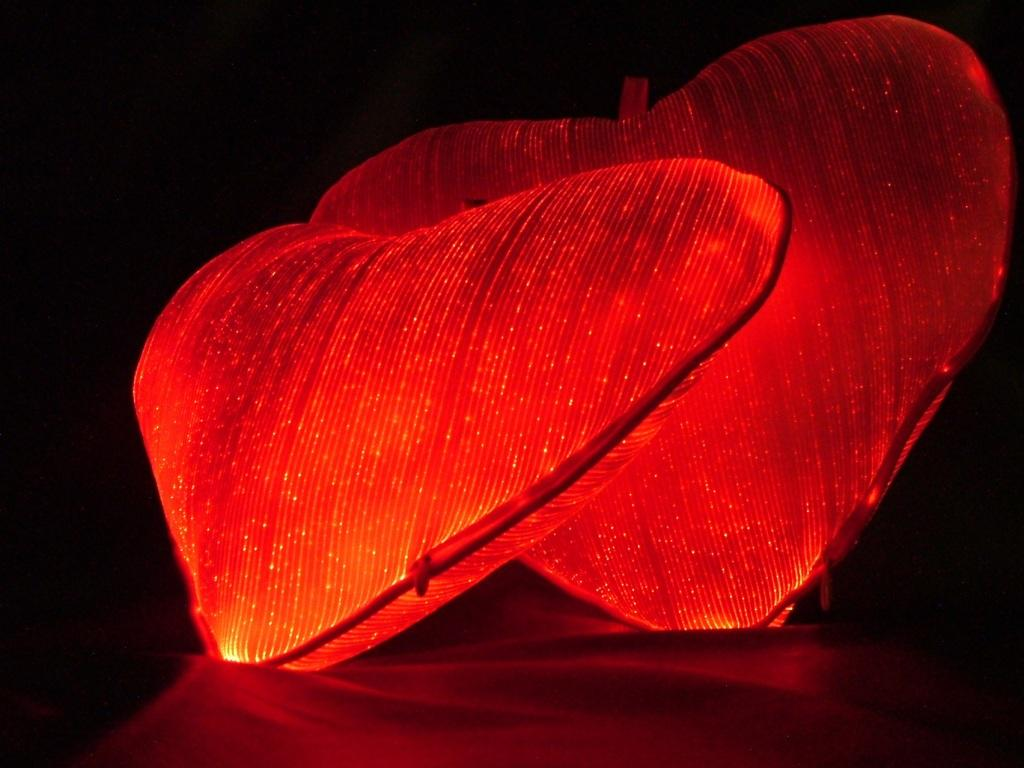 Luminous Heart Pillow