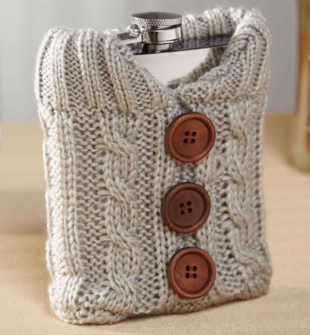 Bundled Up Liquor Flask