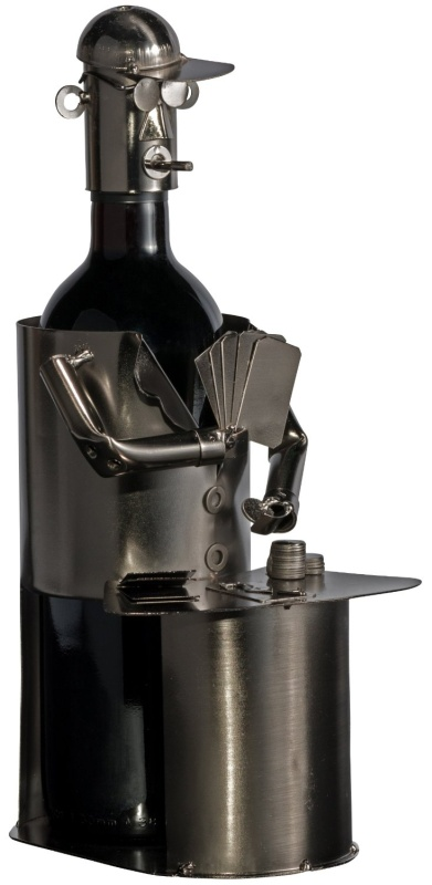 Fabulous Poker Player Wine Bottle Holder Hand Made