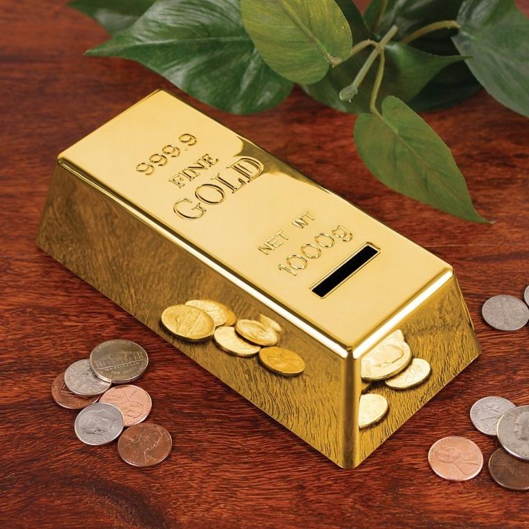 Gold Bar Coin Bank