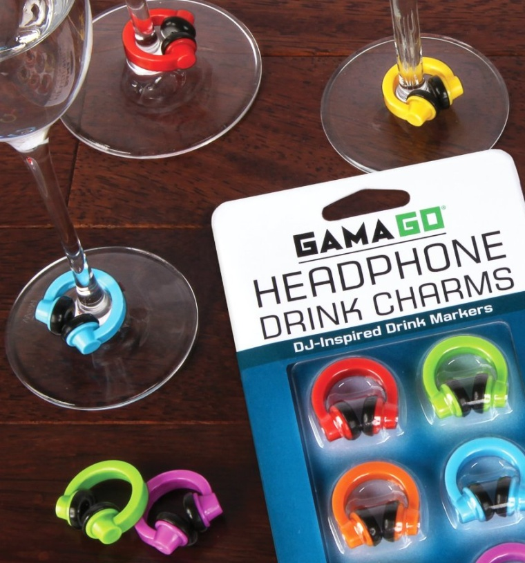 Headphone Drink Charms