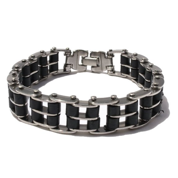 Titanium Cycle Style Chain Linked MENS Fashion Bracelet