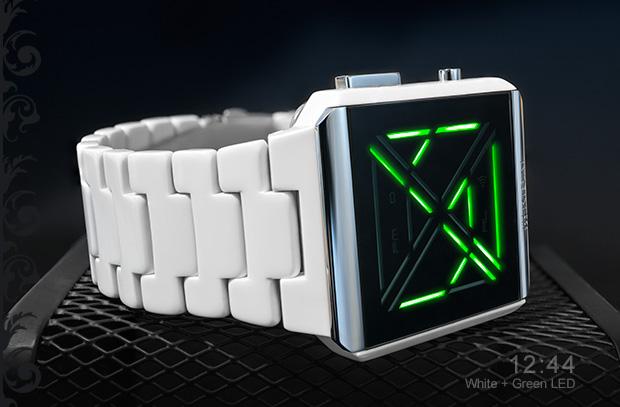 Kisai X Acetate White LED Watch