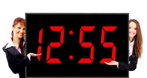 Numeral LED Wall Clock With Remote Control And Super Piranha LED's