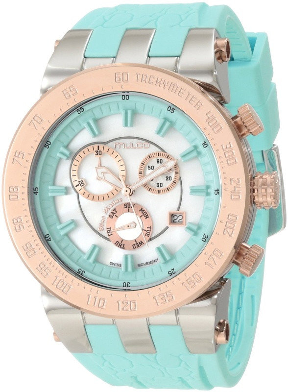 Unisex Bluemarine Stainless Steel and Light Watch