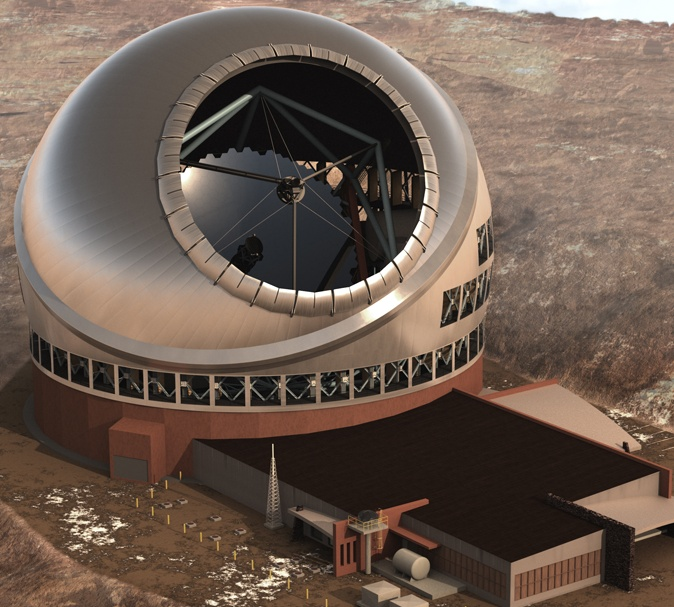 largest optical telescope TMT