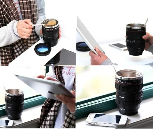 Canon SLR Lens Travel Coffee Mug