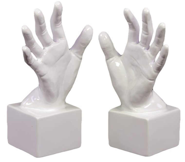 Ceramic Hand Bookend