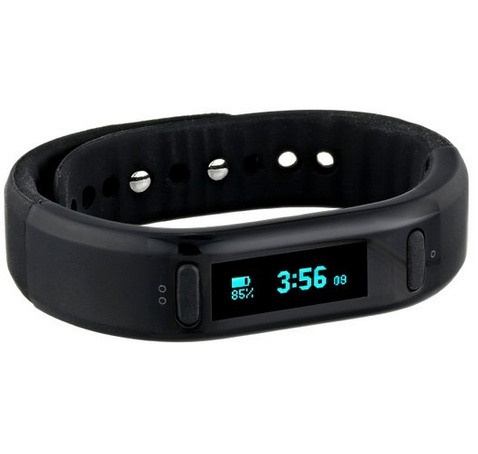 Go Fitness Band Digital Display Quartz Black Watch