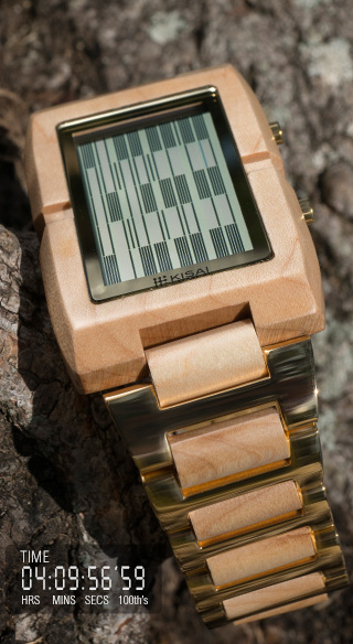 Kisai Upload Wood LCD Watch