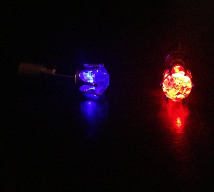 Multi-Color Flashing Night Ice LED Earrings