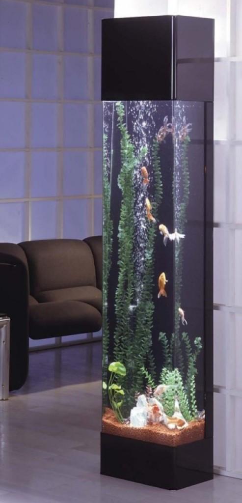 Tower aquarium gadgets matrix for Column fish tank
