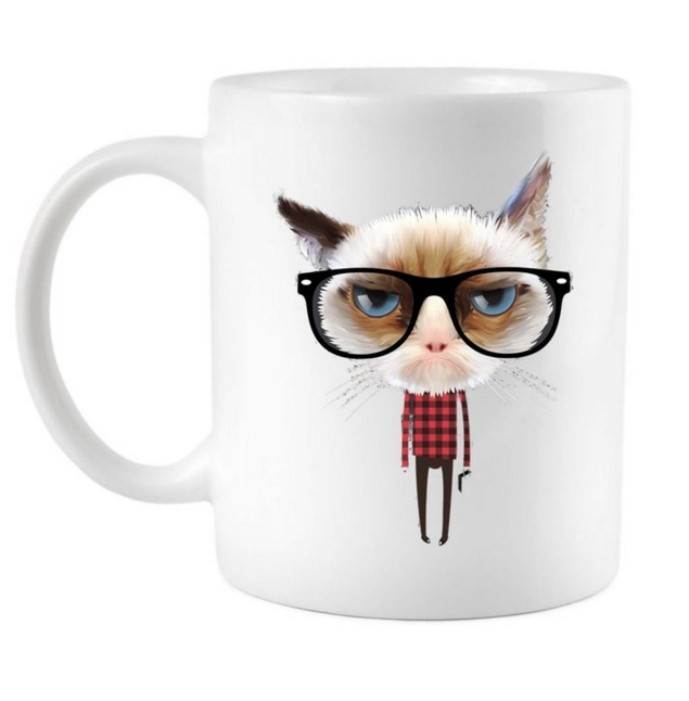 Funny Hipster Cat