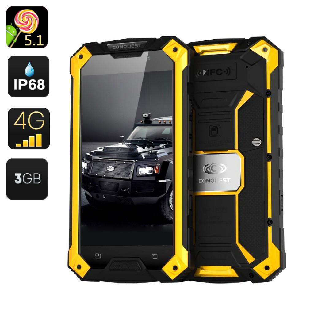 Conquest S6 Pro Rugged Smartphone Gadgets Matrix