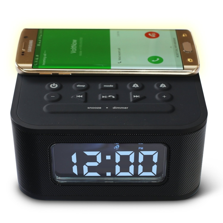 DreamQi Wireless Charging Dual Alarm Clock Bluetooth