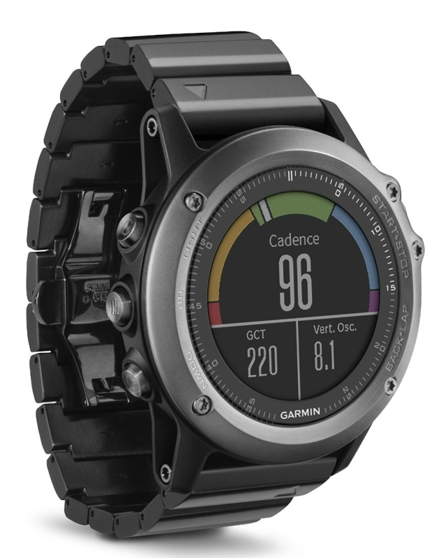 Garmin Fenix 3 Sapphire Multisport Training GPSGLONASS Watch Bundle with HRM-RUN Heart Rate Monitor