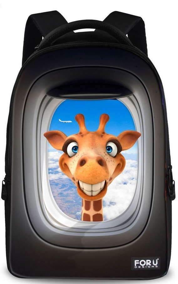 Giraffe Design Animal School Backpacks