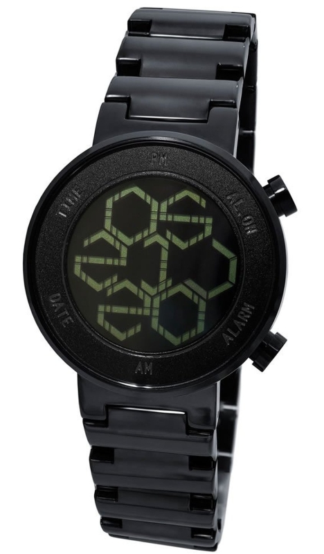 Kisai Zone Black LCD Watch