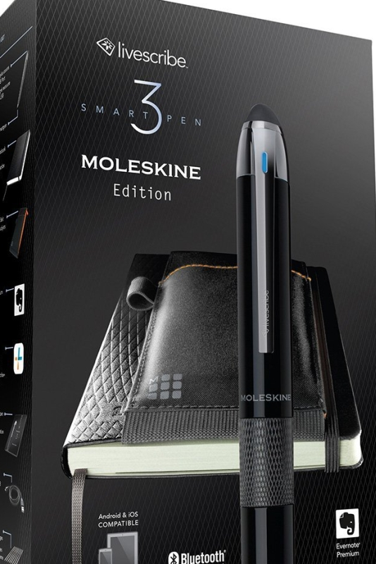 Livescribe 3 Smartpen Moleskine Edition for iOS and Android Phones &Tablets