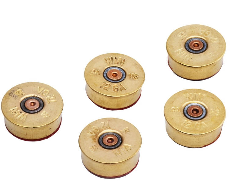 Shotgun Shell Magnets in Brass
