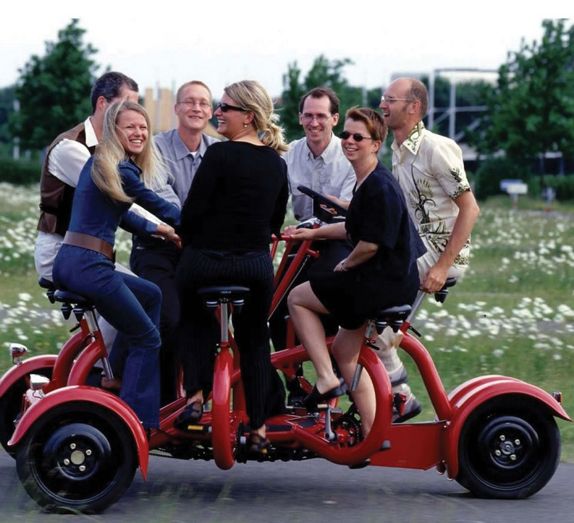 The Only Seven Person Tricycle.