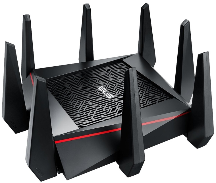 Tri-Band 4×4 Wireless 4-port Gigabit Gaming Router With AiProtection Powered