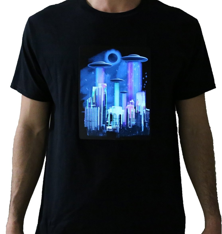 We Came in Color Light up El Wire Panel T-shirt