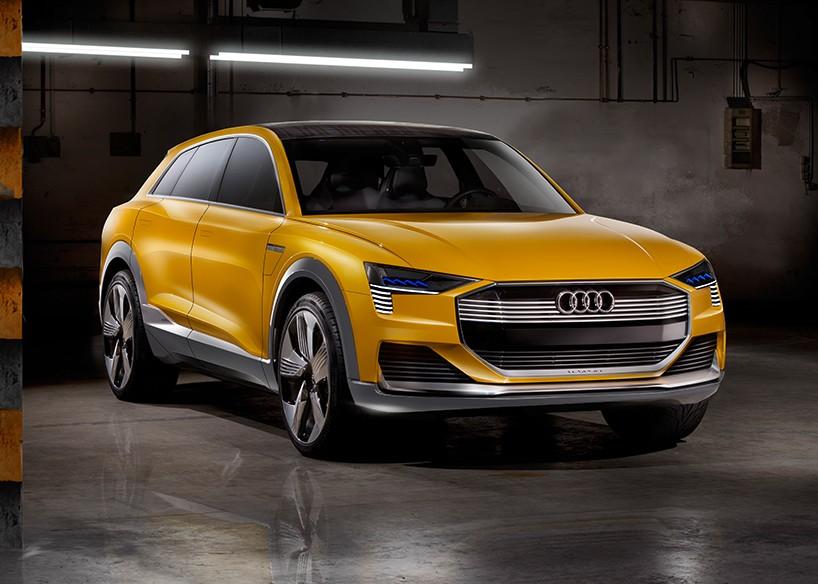 AUDI explores hydrogen fuel cells with h-tron quattro concept