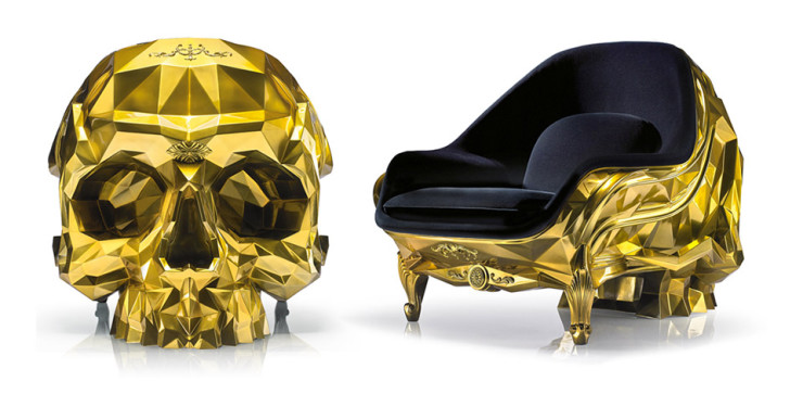 Golden Skull Chair