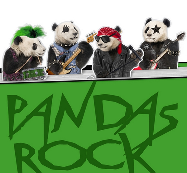 PANDAS ROCK MAGNETIC BOOKMARKS