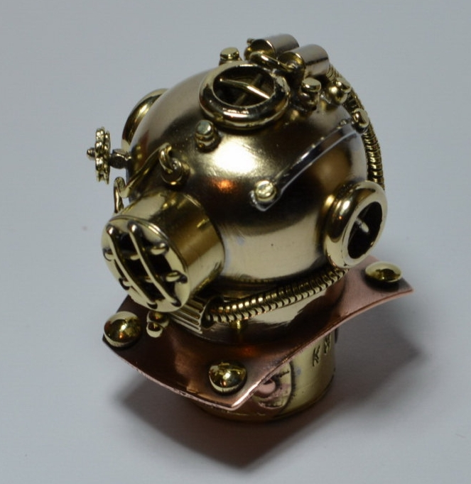 Diving Helmet Steampunk Flash Drive