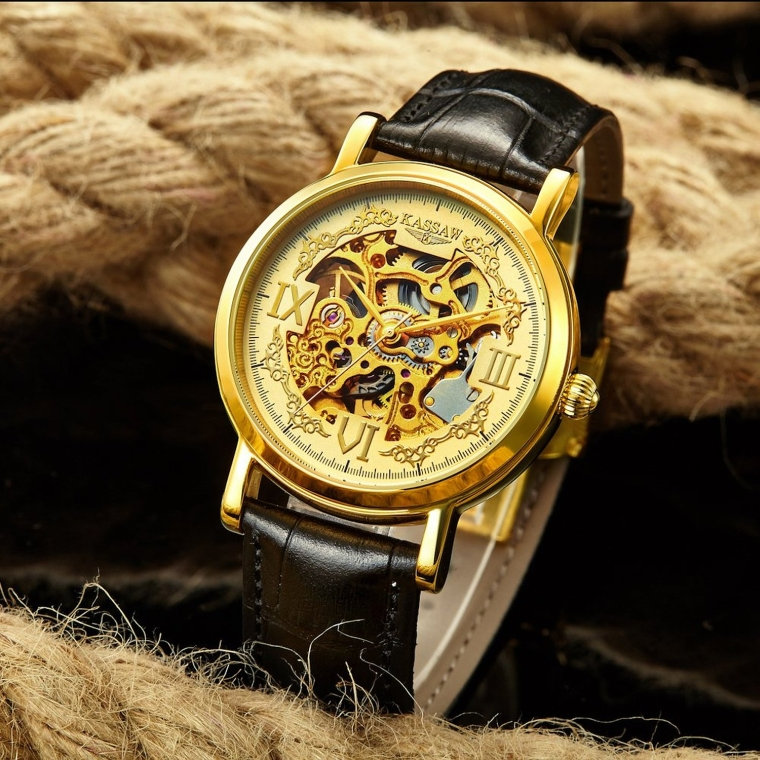 Men's Automatic Mechanical Hollow Leather Waterproof atches