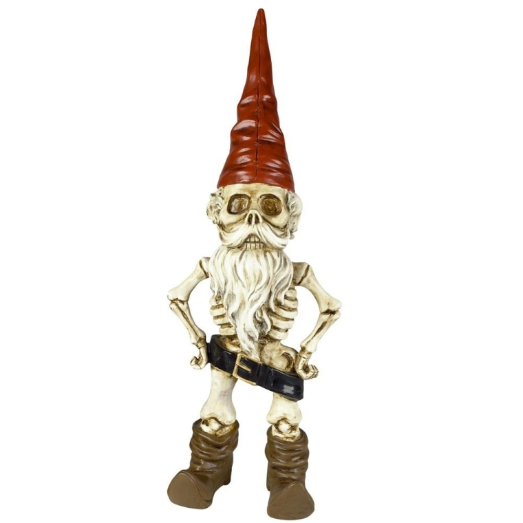 Skel -A- Gnome Skeleton Man Garden Statue Sculpture