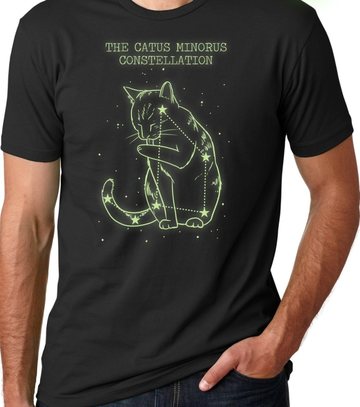 The Catus Minorus Constellation Glow In The Dark T Shirt