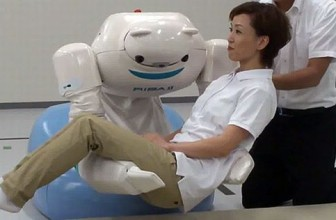Riken Japan upgrade its RIBA II Healthcare robot
