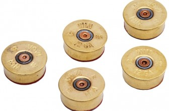 12 Gauge Shotgun Shell Magnets in Brass