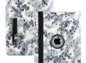 Embossed Flowers Case Rotating Swivel Stand for The New iPad